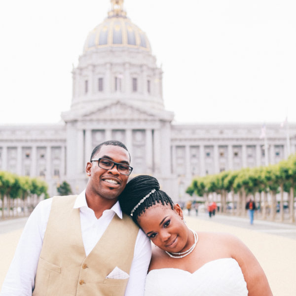 Tia + Edward: SF City Hall Wedding Photography