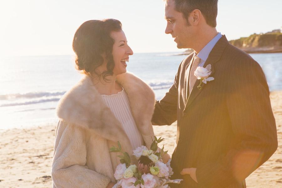 santa cruz beach sunset wedding photography