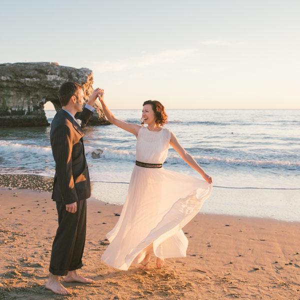 Elizabeth + Jonathan: Santa Cruz Beach Wedding Photography