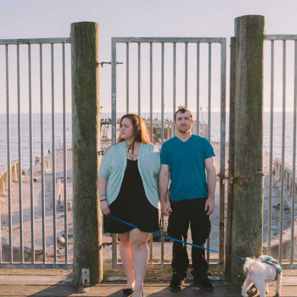 Catie + JT: Santa Cruz Sunset Beach Engagement Photography