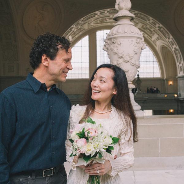 Steve + Mami: SF City Hall Wedding Photographer