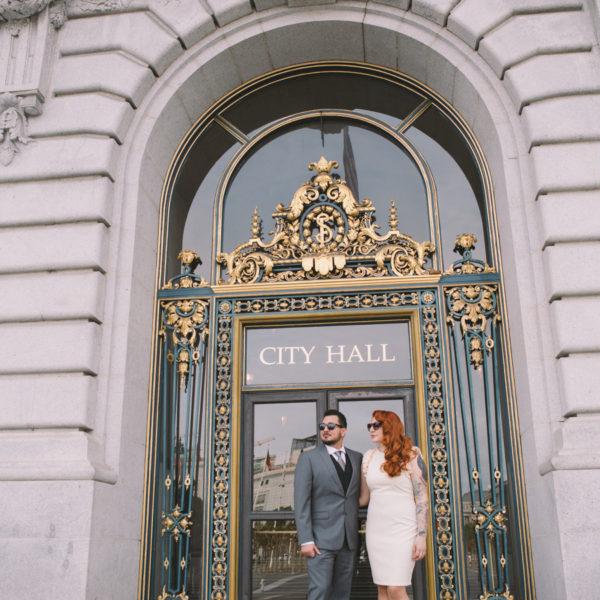 Jessica + Jorge, SF City Hall Wedding Photos