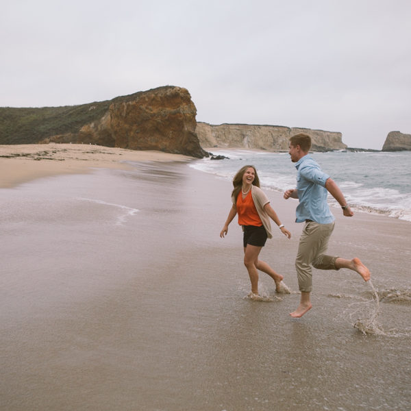 Katherine + Anders: Santa Cruz Beach Forest Engagement Photography