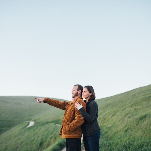 Cameren + Mike: Santa Cruz Mountain Engagement Photography