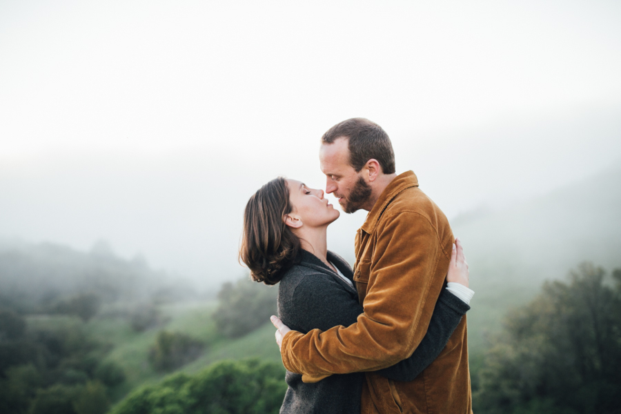 santa cruz mountain engagement photography