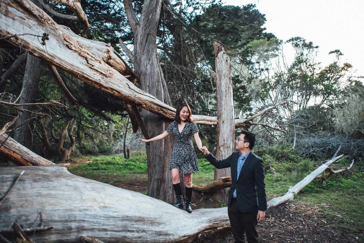 half moon bay proposal photography