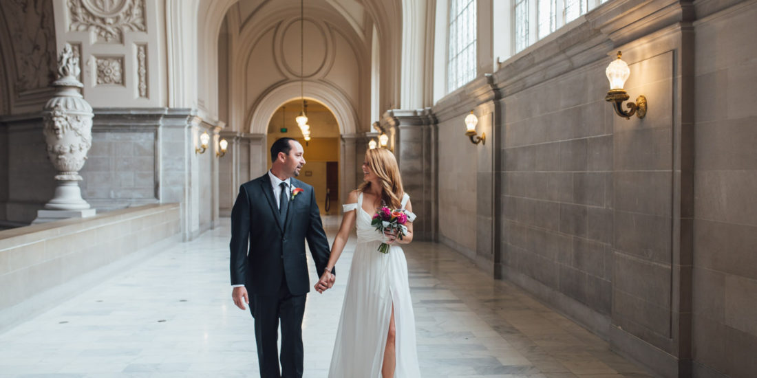 Jessica And Russel Were Married At San Francisco City Hall It Was A Beautiful Day Raining Softly Unusually Empty That