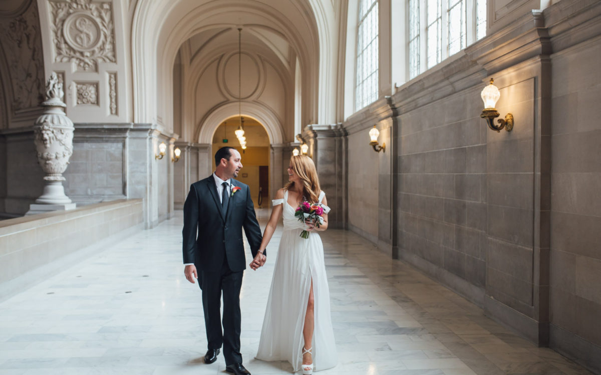 Jessica + Russel: San Francisco City Hall Elopement Photographer