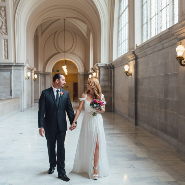 Jessica + Russel: San Francisco City Hall Elopement Photographer