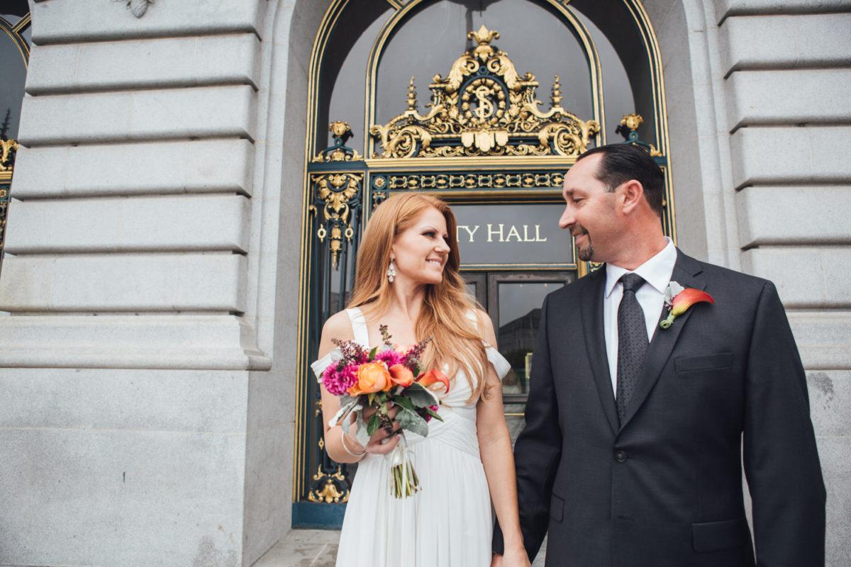 san francisco city hall elopement photographer