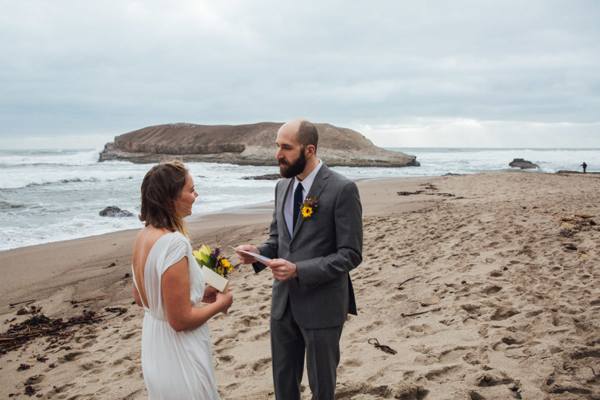 santa cruz beach elopement