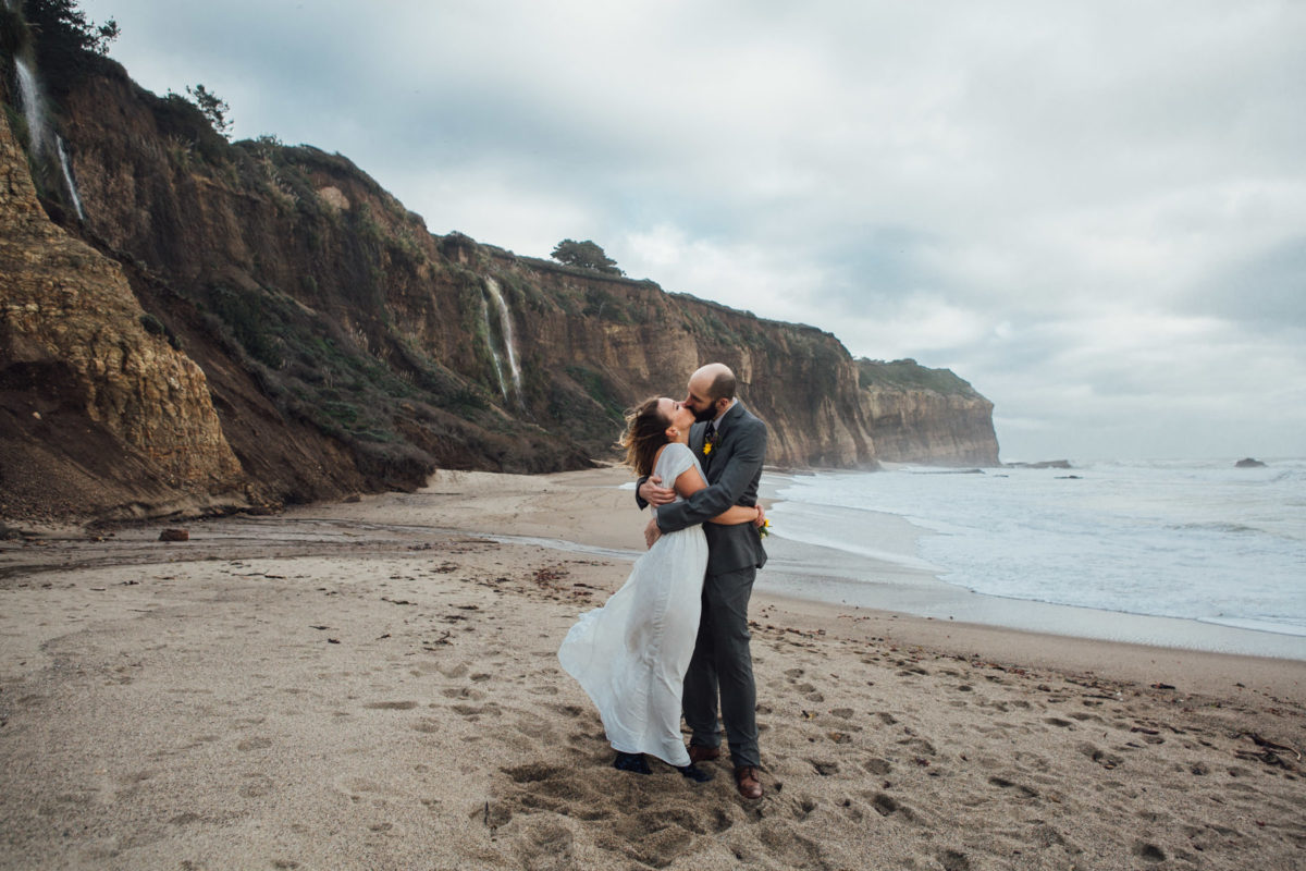 santa cruz beach elopement photography