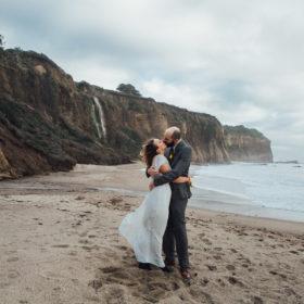 santa cruz beach elopement photography