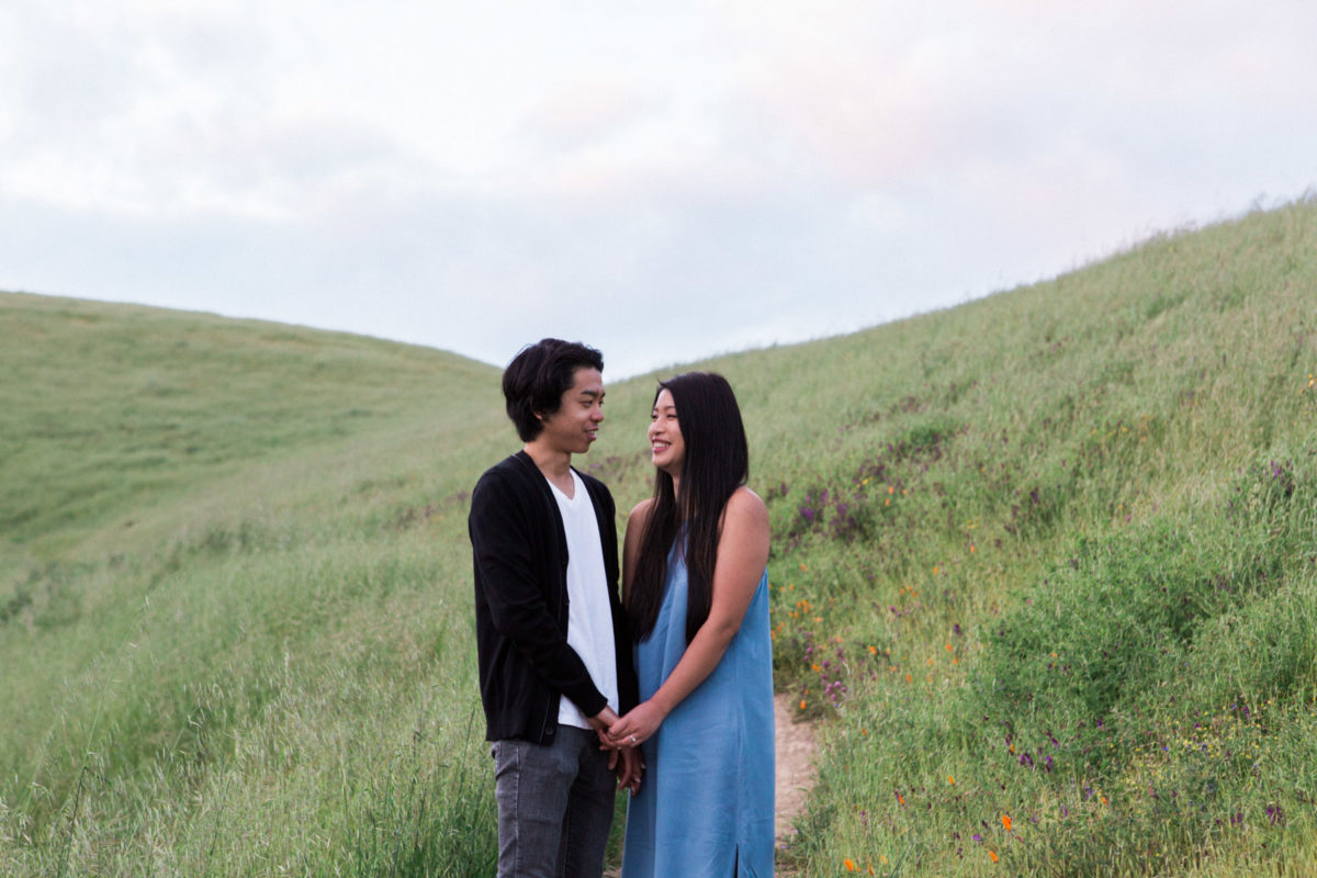 santa cruz mountain engagement session