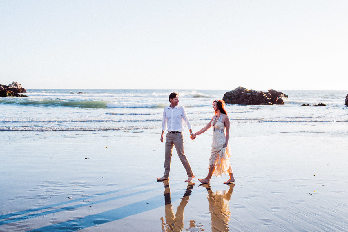 big sur engagement session