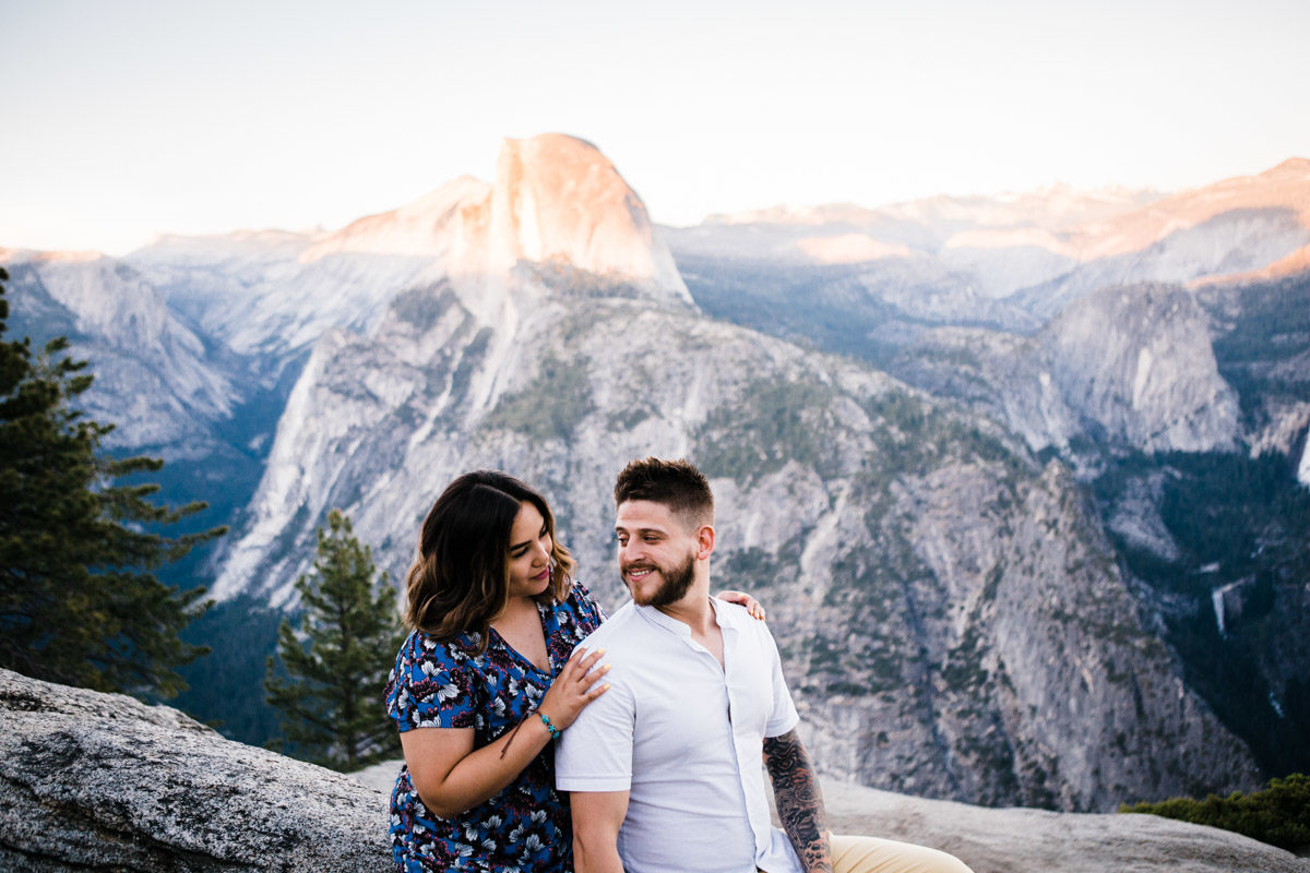 yosemite engagement session photography
