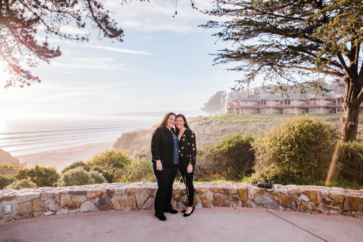 santa cruz wedding photographer seascape proposal