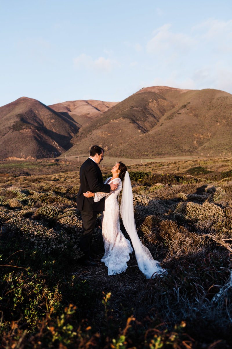 mountain cliffs wedding photography big sur
