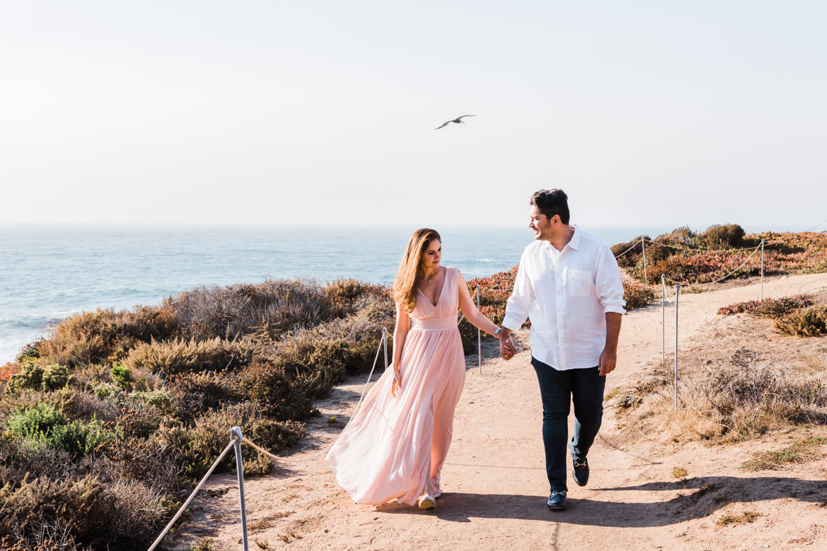 big sur engagement photos